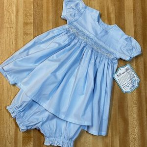 Remember Nguyen Smocked SS Dress  W/ Bloomers